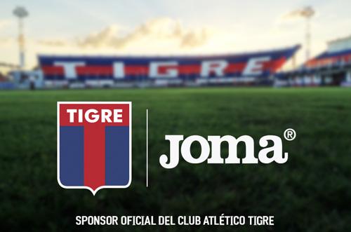 2017 - Joma se convierte en sponsor del Club Atlético Tigre.
